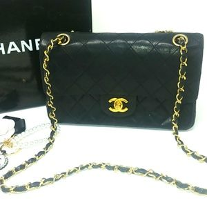 Rare CHANEL 1986 Double Flap Bag Coco Special Ed